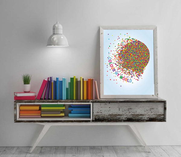 colour color my world chicago band song lyrics art poster print decor