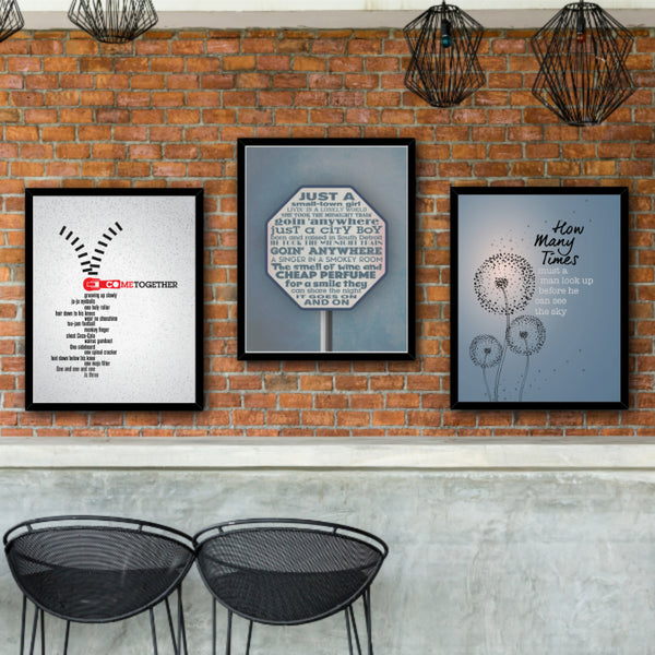 Beatles Come Together Music Poster Art