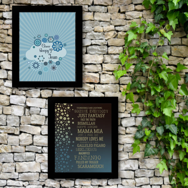 Daydream Believer by the Monkees - Song Lyrics Wall Décor Art Print Poster Classic Pop Music
