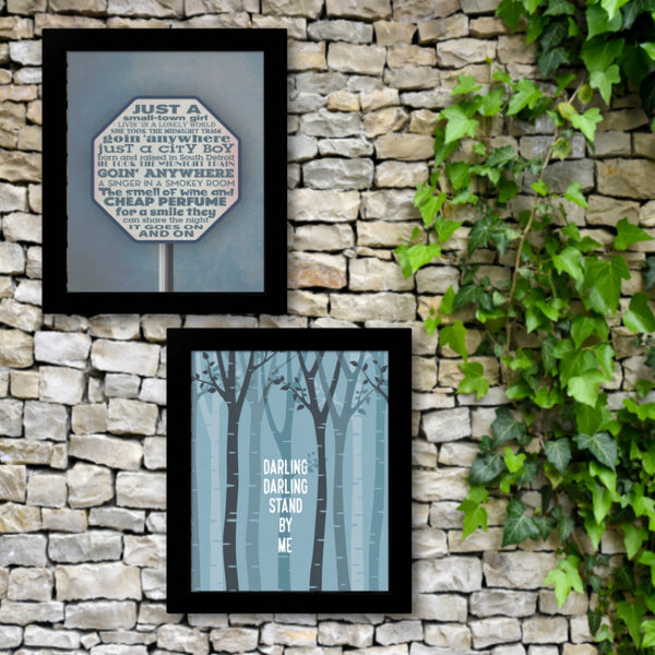 Song Lyric Quote Memorabilia Print - Stand By Me by Ben E. King
