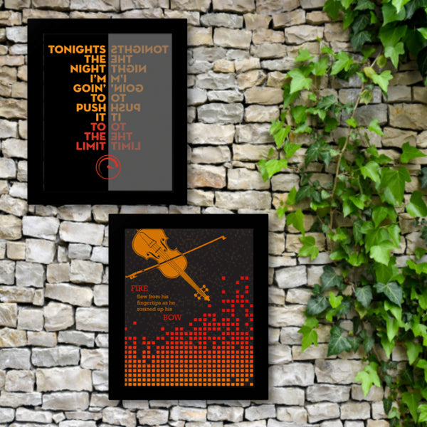 the devil went down to Georgia by the Charlie Daniels Band Song Lyric Wall Art Country Music Memorabilia Illustration