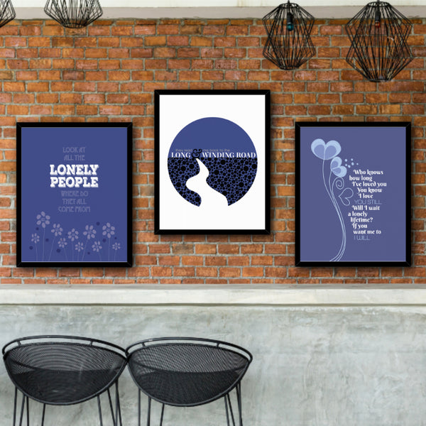 I Will by the Beatles - Classic Rock Music Gift Song Lyric Poster, Print Canvas or Plaque