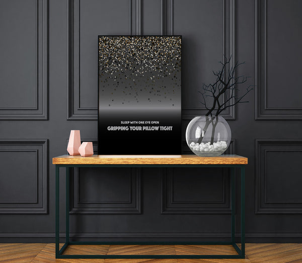Enter Sandman by Metallica - Song Lyric Wall Visual Art - Home Decor Gift - Music Quote Print Canvas or Plaque