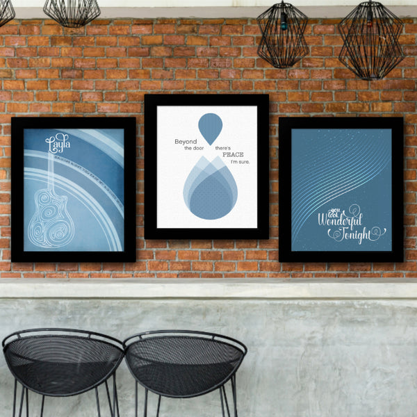 Tears in Heaven by Eric Clapton - Song Lyrics Inspired Wall Art