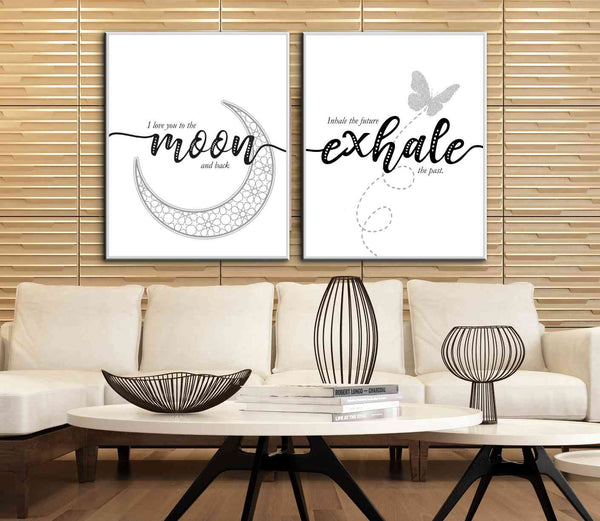 Inspired Wall Decor Quote Print - Inhale the Future, Exhale the Past - Motivational Poster Saying