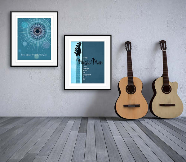 Faithfully by Journey Music Lyric Poster Design Wall Hanging Decor