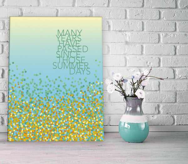 Field of Gold by Sting Song Lyrics Art Print Poster Music Enthusiast Gift