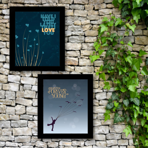 Forever Young by Rod Stewart - Song Lyric Music Poster Print