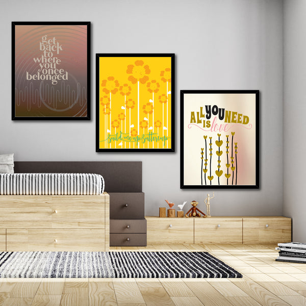 Build me up Buttercup by the Foundations Song Lyric Wall Art Print