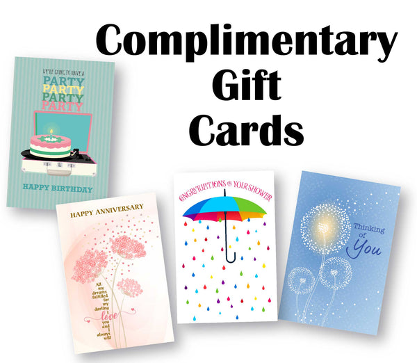 Complimentary Gift Cards from Song Lyrics Art