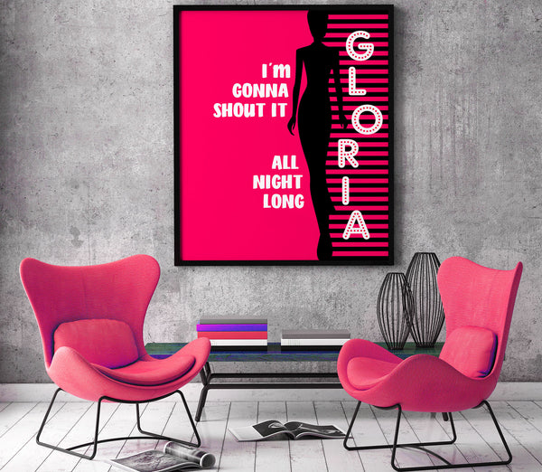 Gloria by Van Morrison Song Lyrics Art