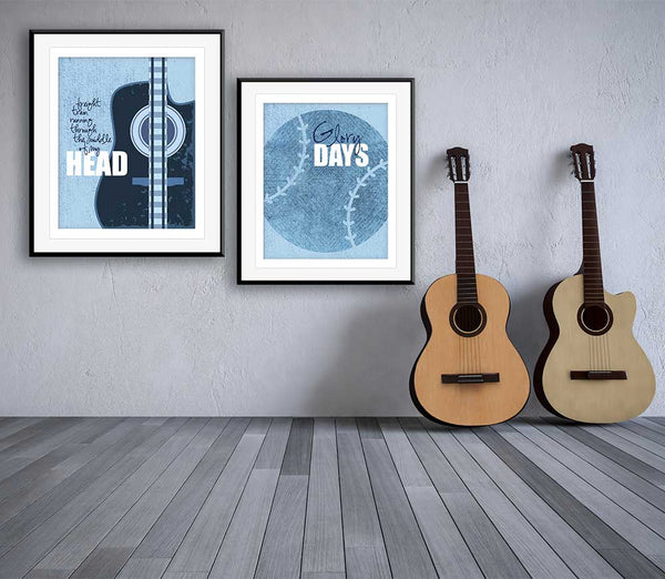 glory days bruce springsteen song lyrics poster print wall artwork