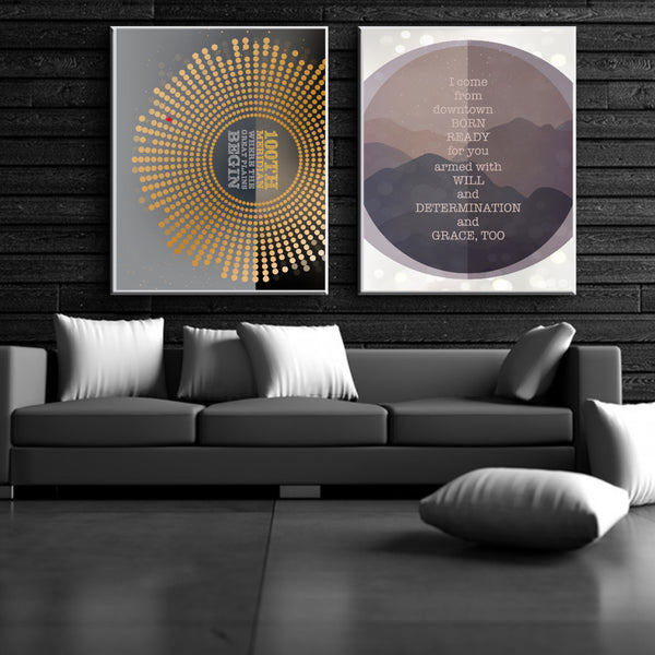 grace too by the tragically hip Wall decor print for Classic rock Music Lovers