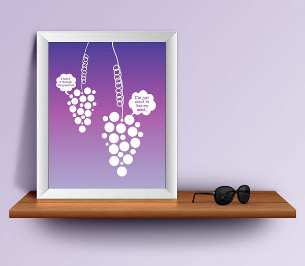 Heard it through the grapevine by Marvin Gaye Song Lyric Art Poster