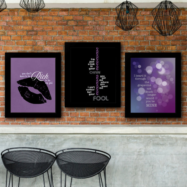 Kiss by Prince Song lyric art poster