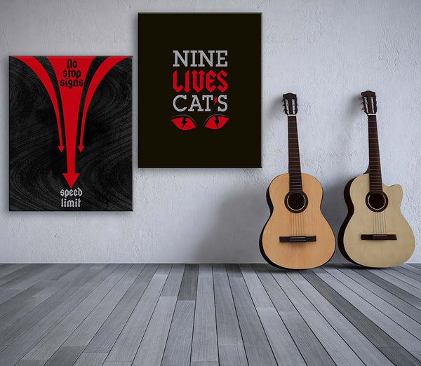 Highway to Hell ACDC song lyric illustration custom design