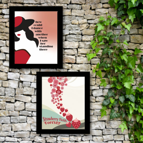 I Saw Her Standing There by the Beatles - Classic Rock Song Lyric Music Art Print, Poster, Canvas or Plaque