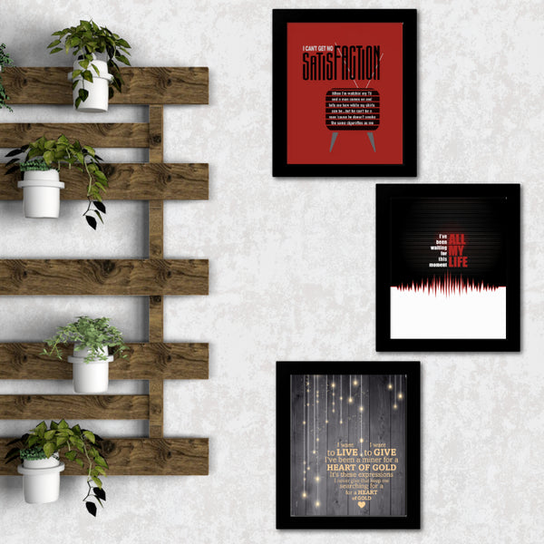 In the Air Tonight by Phil Collins - Song Lyrics Art Classic Rock Music Poster Wall Decor Illustration Print