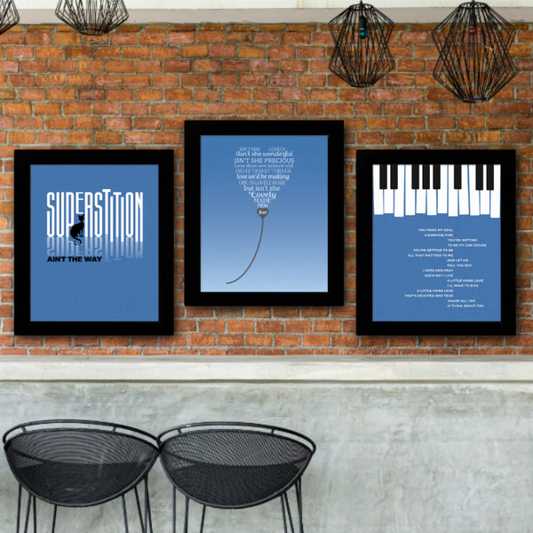 Song Lyric Music Quote Poster Print Art - All I Do by Stevie Wonder