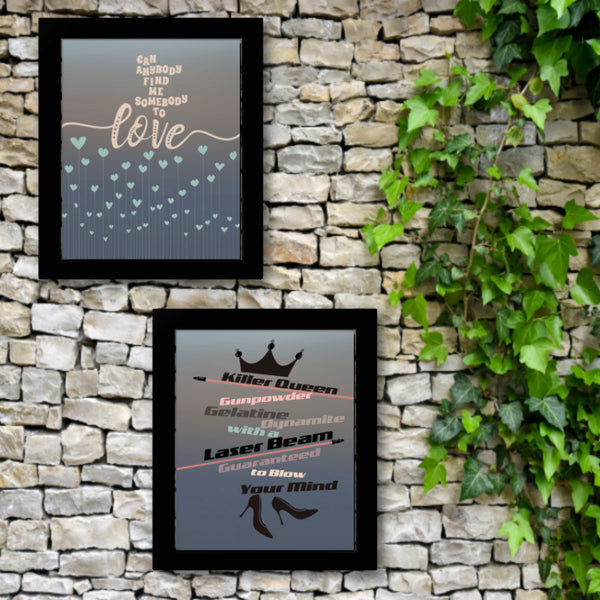 Killer Queen Song Lyric Classic Rock Music Wall Print Poster Canvas or Plaque