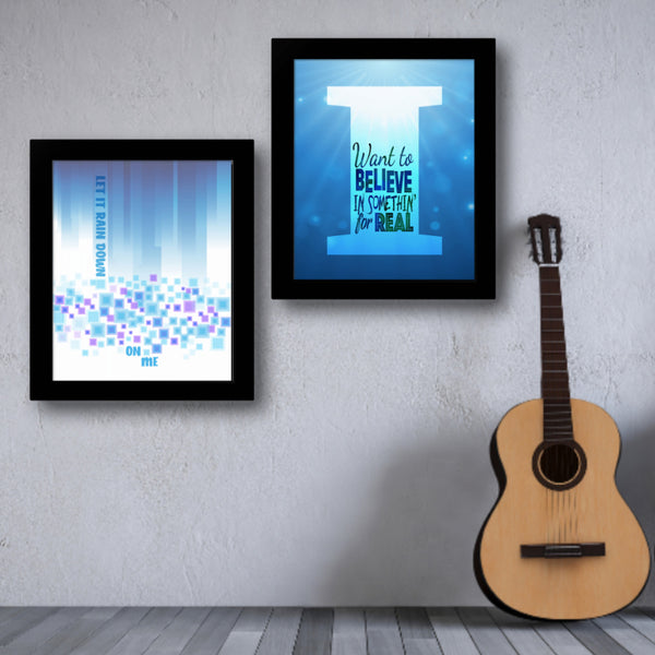 I Want to Believe by Sass Jordan Song Lyrics Art Poster Print Wall Decor for Music Enthusiasts