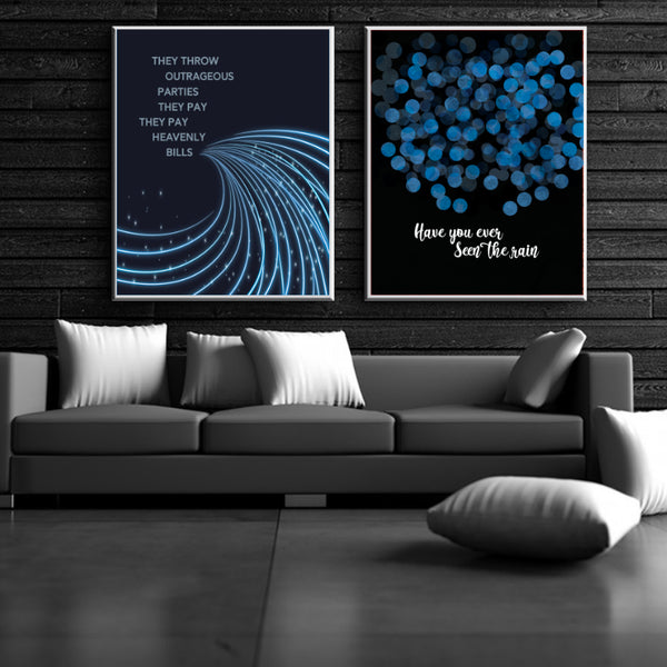 Credence Clearwater Revival CCR Have You Ever Seen the Rain Song Lyrics Quote Poster Art
