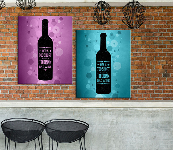 wine lovers poster print