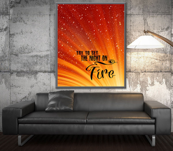 light my fire the doors song lyrics wall print art poster decor