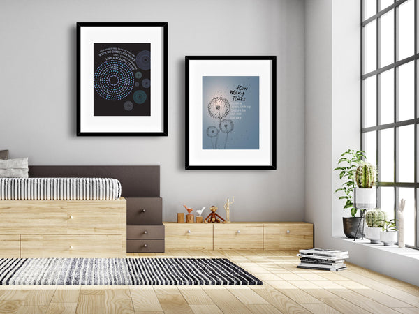 Like a Rolling Stone by Bob Dylan Song Lyric Wall Art Print Music Poster Quote Home Decor