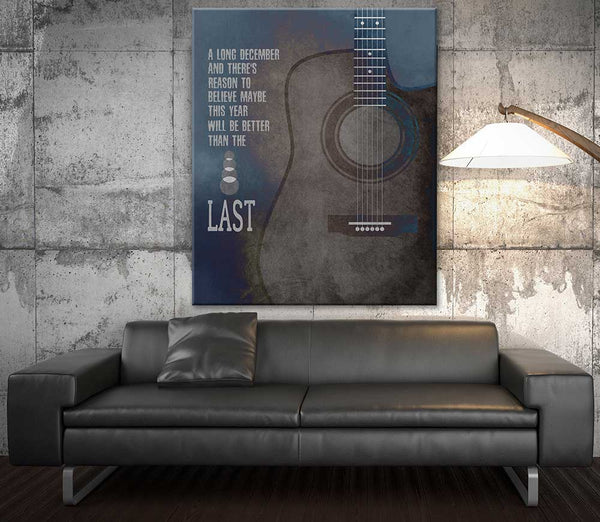 Counting Crows Song Lyrics Poster A Long December