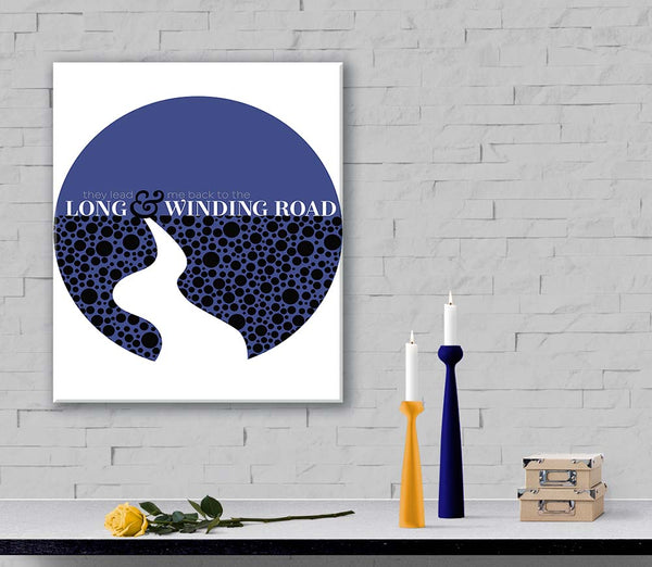 Long and Winding Road by the Beatles Lyrical Poster Artwork