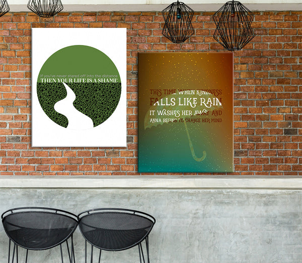 mrs potters lullaby counting crows song lyric poster