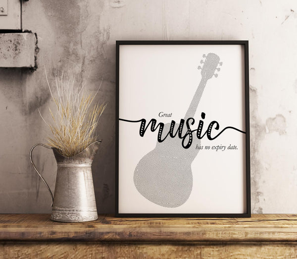 Great Music Has No Expiry Date - Visual Wall Art Inspirational Quote