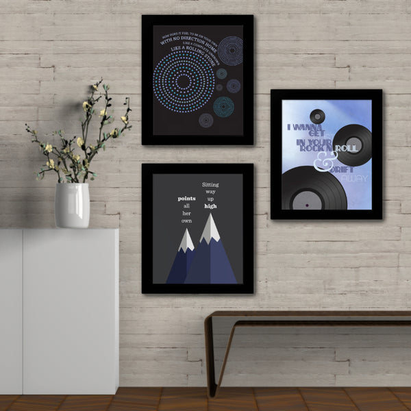 Drift Away by Dobie Gray - Song Lyrics Art Classic Rock Music Poster Wall Decor Illustration Print