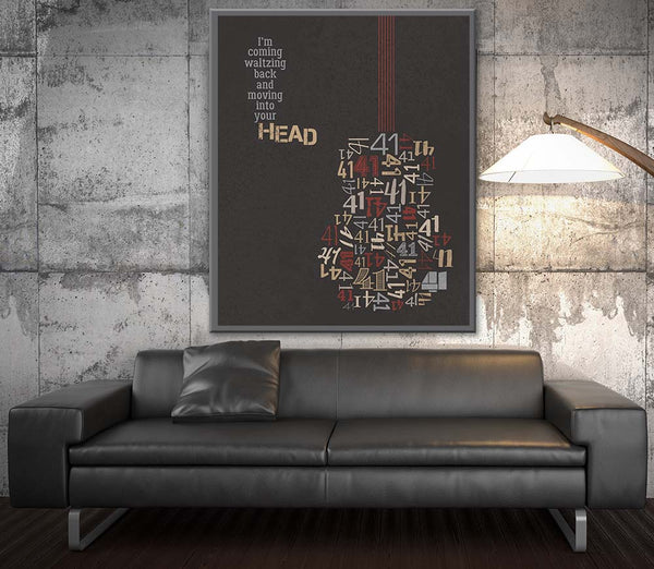 dave matthews band no number # 41 music lyrics art print design