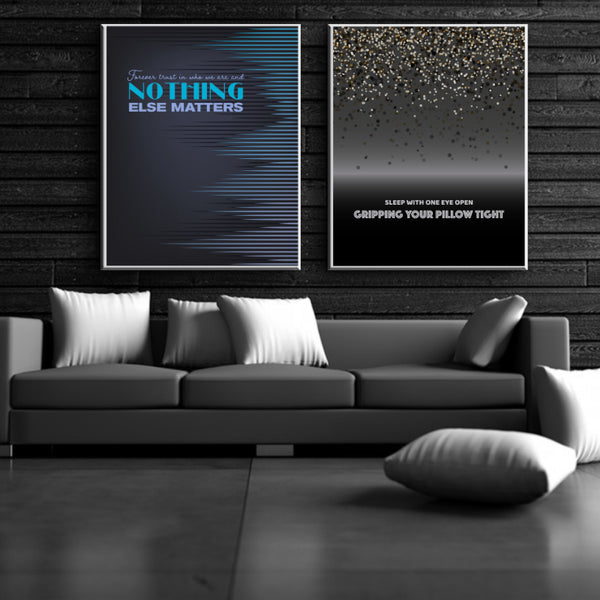 Nothing Else Matters by Metallica - Song Lyric Music Poster