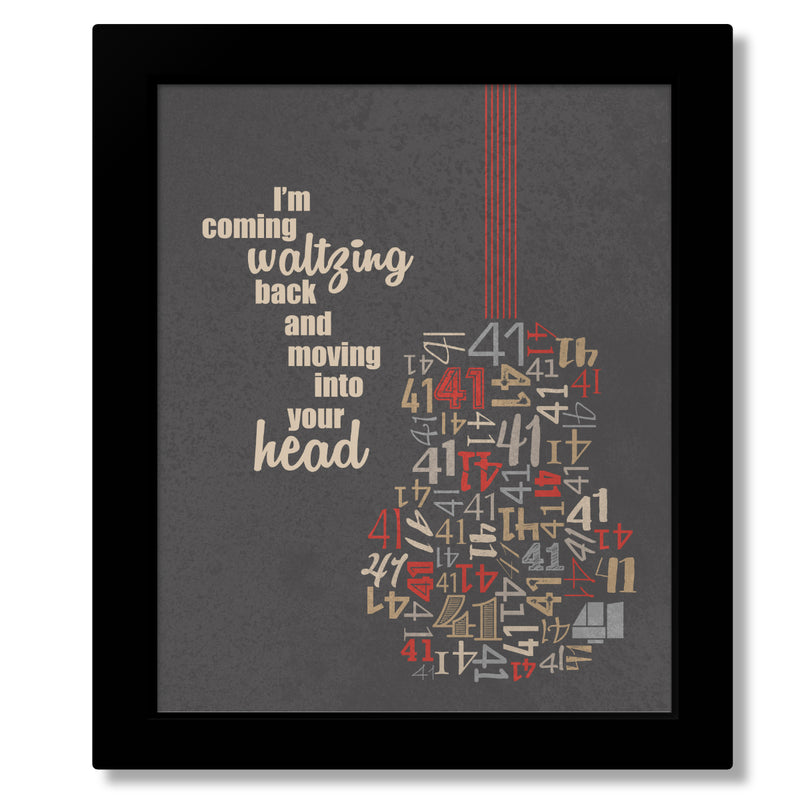Number 41 by the Dave Matthews Band - Music Poster of Classic Rock Song Lyrics