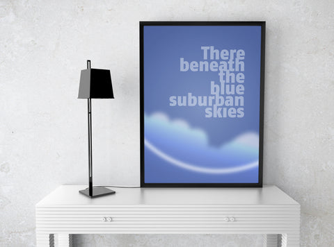 """The Beatles Art Poster """"Penny Lane"""" Song Lyric Artwork Design Music Quote"""