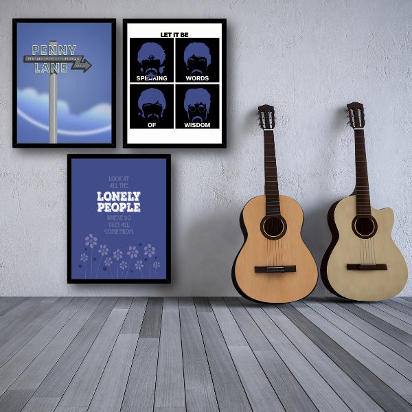 Let it Be by the Beatles Song Lyric Art Print Poster Wall Décor Classic Rock Music