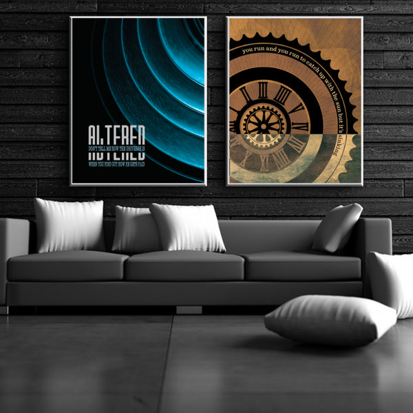 Poets by the Tragically Hip - Song Lyrics Art Print Poster of Classic Rock Music Hit Tune of the 90s