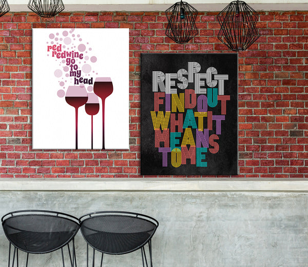 Neil Diamond Red Red Wine Song Lyrics Art Print Poster Music Gift Memorabilia