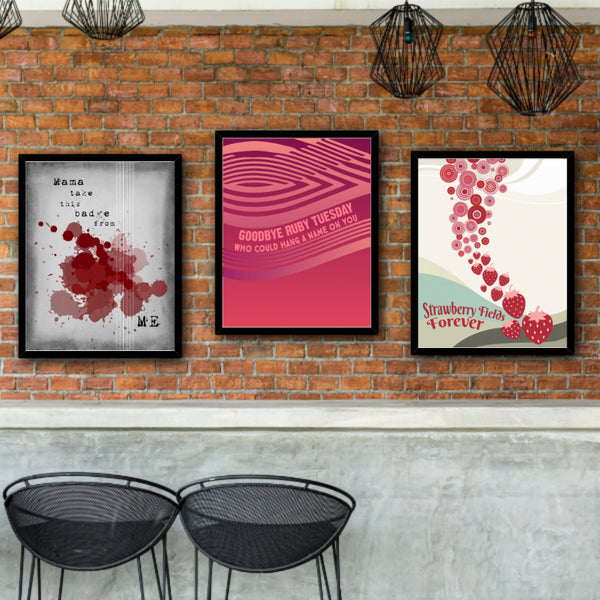 ruby Tuesday by the rolling stones song lyric wall art decor print