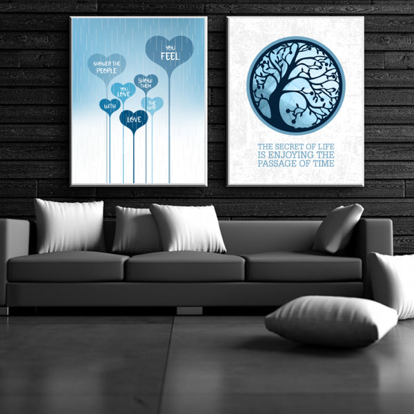 Song Lyric Art Print - Shower the People by James Taylor