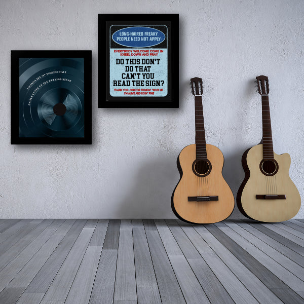 Signs by the Five Man Electrical Band Song Lyric Poster Illustration Music Quote