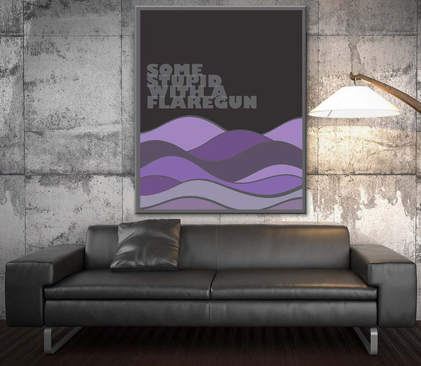 Smoke on the  Water by Deep Purple Song Lyrics Art Music Poster Wall Decor