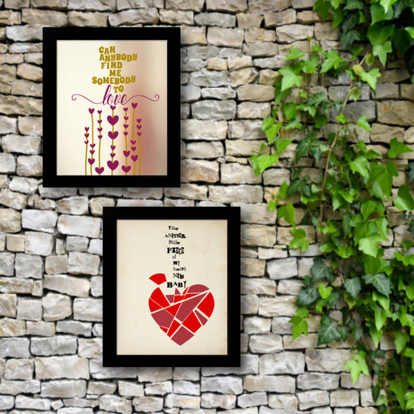 Somebody to Love by Queen - Song Lyrics Art Classic Rock Music Poster Wall Decor Illustration Print