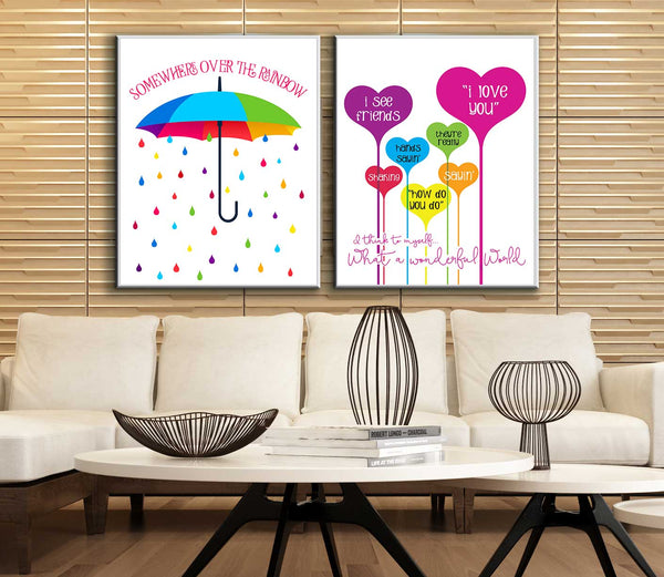 It's a Wonderful World by Louie Armstrong Song Lyrics Art Wall Decor Custom