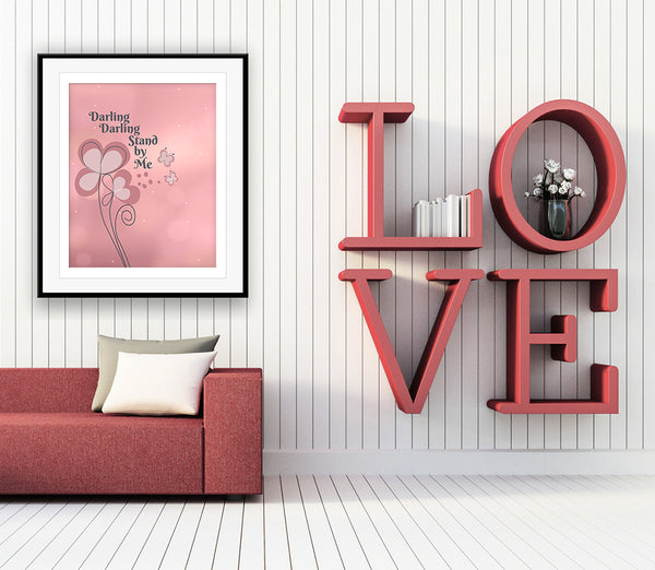 Stand by Me by Ben E. King Song Lyric Poster Print