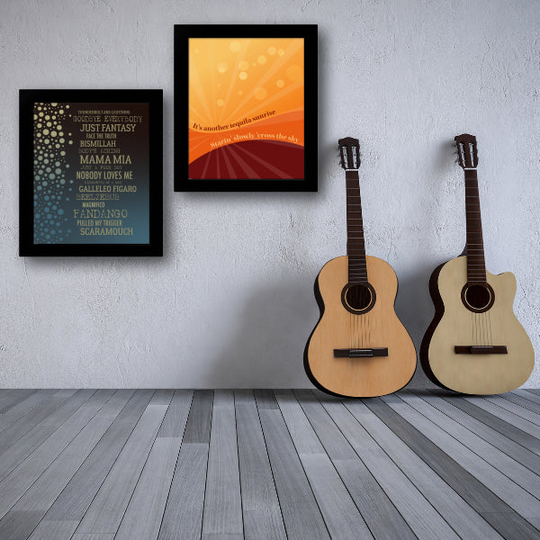 Tequila Sunrise by the Eagles Song Lyric Artwork Print