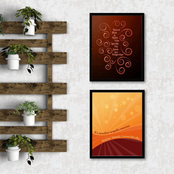 witchy woman by the eagles song lyric wall art gallery print decor